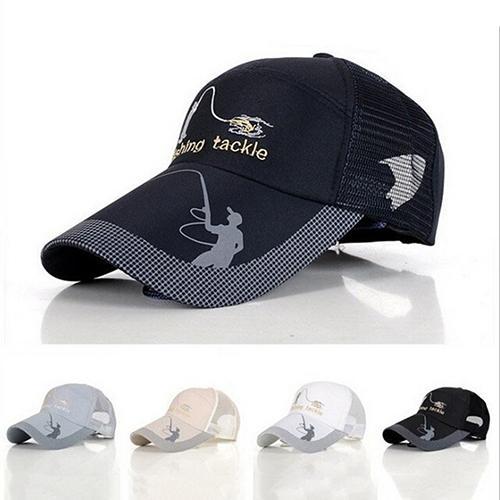 Men Fashion Outdoor Sun Protection Tackle Mesh   Baseball     Cap   Fishing Hat