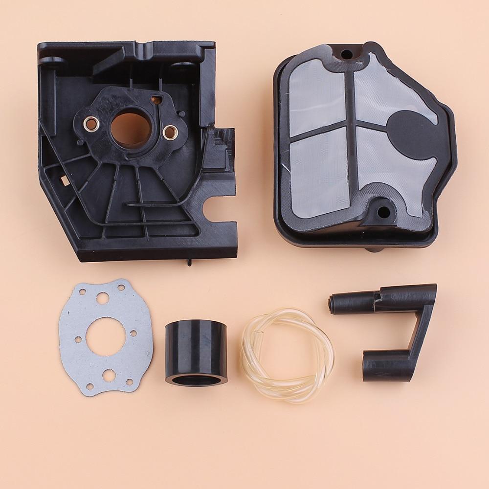 Carburetor Adaptor Grommet Intake Manifold Air Filter Kit Fit Husqvarna 136 137 141 142 142e 36 41 Gas Chainsaw Parts