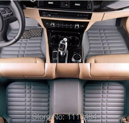 Myfmat personnaliser nouveau plancher de la voiture tapis pied tapis auto tapis automobile tapis universel ensemble coussin 4 couleur en cuir livraison gratuite top
