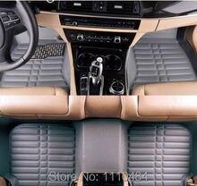 Personalizar = marca + modelo + lanzado año coche tapetes alfombras pie estera auto alfombra del automóvil universal conjunto amortiguador 4 de cuero de color