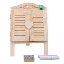 Мини Милая Черная Маленькая доска деревянная Классная доска Забавная детская ранняя обучающая доска для рисования игрушки для рисования