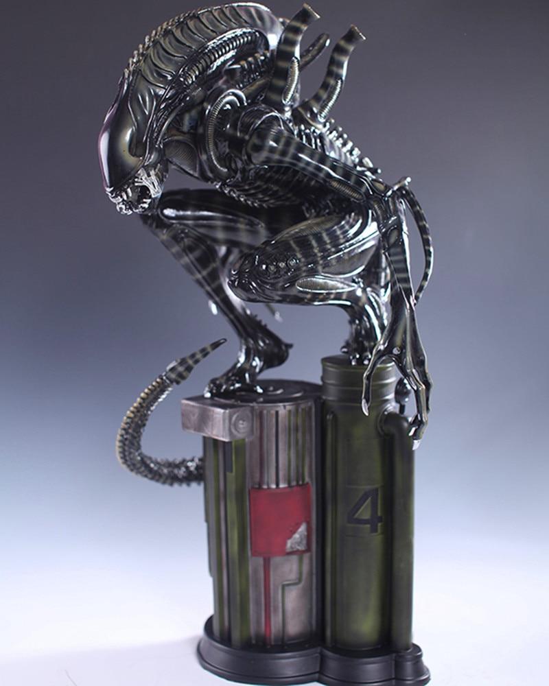 AVP Alien Vs Predator Squatted Like 1:4 Alien Warriors Portrait Statue AVP Alien Warrior Full-Length Portrait Action Figure nikko машина nissan skyline gtr r34 street warriors 1 10 901584 в перми