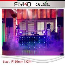 P180mm концертный для сцена на вечеринках и шоу освещение led занавес 1 м высокий на 2 м ширина будка диджея видения видео занавес