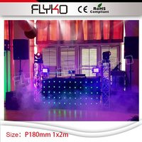 P180mm concert party show stage lighting led curtain 1m high by 2m width dj booth vision video curtain