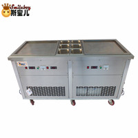 2018 Soft Fried Ice Cream Machine Maker Kitchen Appliances Stainless Steel Hotel Commercial Machine for Cake/bakery/drink Shop