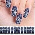 Nueva etiqueta engomada del clavo de transferencia de agua pegatinas calcomanías de flores inclina la decoración 3D Nail Art Stickers Decal uñas maquillaje tatuajes