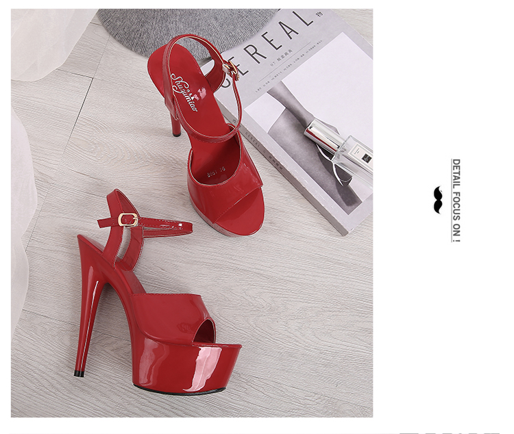 HTB1zsC0a2vsK1RjSspdq6AZepXab Sandals Shoes Woman Clear Heels Platform 2019 Beach Sexy Sandals Wedding Shoes Steel Tube Dancing Girl Stripper Shoes Open Toe