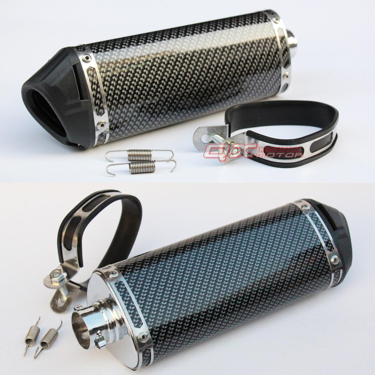 ФОТО FREE SHIPPING dirt bike motorcycle exhaust muffler refires carbon fiber quiet exhaust pipe silencedr back-end