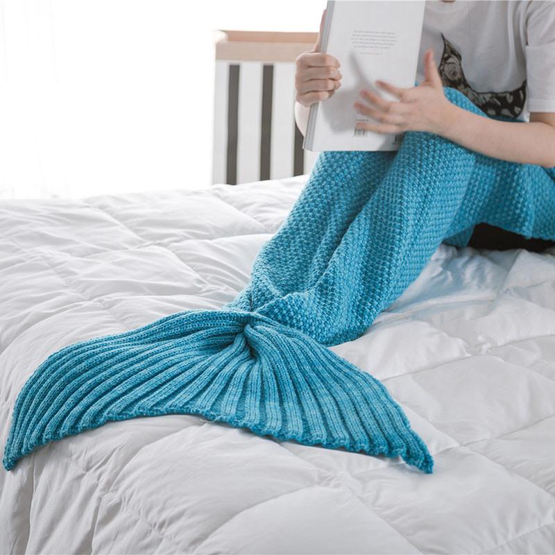 HTB1zsCIOXXXXXbAapXXq6xXFXXXR - Mermaid Blanket Handmade Knitted Sleeping Wrap PTC 70