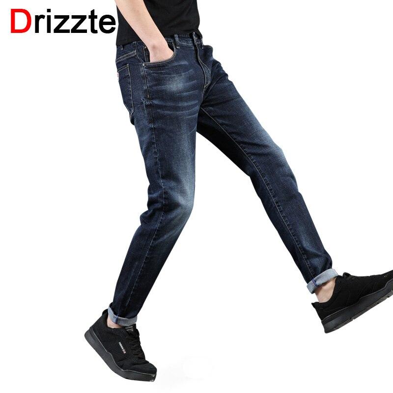 Drizzte Mens 2018 New Plus Size 28-46 Blue Grey Stretch Slim Fit Jeans Denim Jean Mens Larger Big Man Pants 40 42 44 46