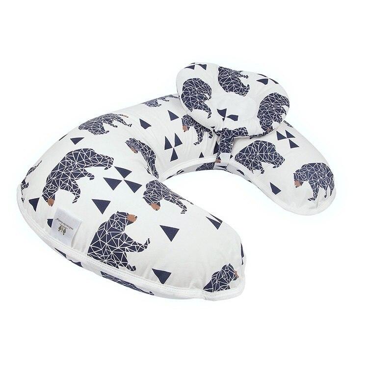 Подушка для кормления грудью многофункциональная детская подушка для кормления материнская поясная подушка u-образная Подушка для кормления ребенка - Цвет: heixiong