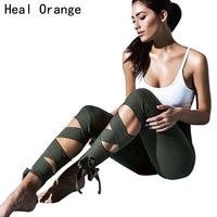 HEAL ORANGE Women Yoga Pants Bandage Fitness Gear Running Tights Elastic Leggins Jogging Trousers Stretch Sport