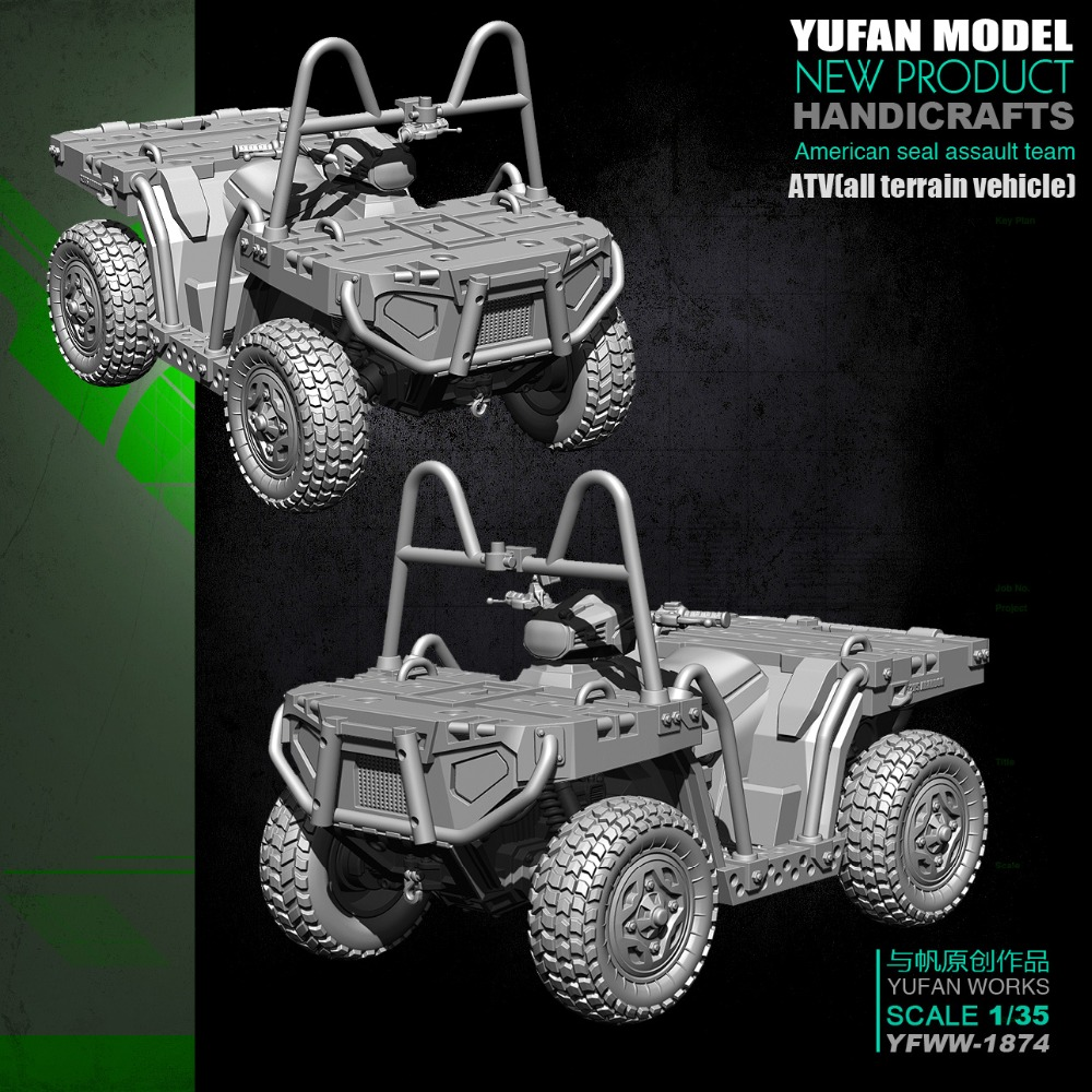 US $25 1 16% OFF|1/35 resin figure model kit ATV(All terrain vehicle)  1874-in Model Building Kits from Toys & Hobbies on Aliexpress com | Alibaba