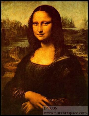 Leonardo Da Vinci Mona Lisa Peinture Célèbre Portrait Peintures à l'huile reproductionn Peint À La Main Toile Peintures À L'huile