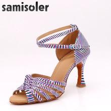 Samisoler  zapatos de baile latHot selling Women Professional Dancing Shoes Ballroom Dance Ladies Latin heeled