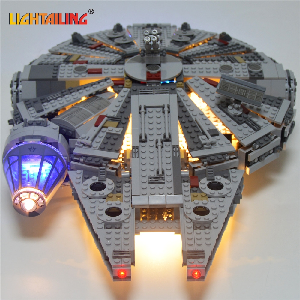 LIGHTAILING LED Light Kit For Star Wars Millennium Falcon Building Block Model Light Set Compatible With 05007 And 75105