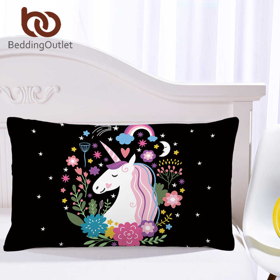 BeddingOutlet Clearance Pillowcase Unicorn Printed Pillow Cover Microfiber Pillow Case Teen Boy Girl Bedding 1pc/2pcs Low Price