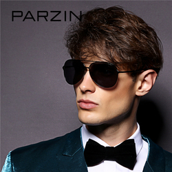 PARZIN Classic Alloy Frame Aviator Sunglasses For Men Quality Polarized Glasses For Driving Lunette De Soleil Eyewear Male 8009
