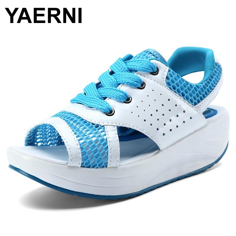 Sandals Fashion Lady Footwear Woman Yaerniwomen's-Shoes Platform Open-Toe Breathable