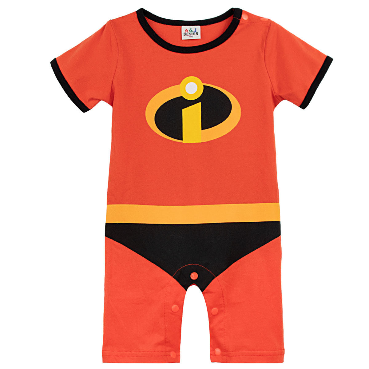 Baby Boys Girls Cosplay The Incredibles 2   Romper   Infant Superhero Cartoon Jumpsuit Newborn Print Cotton Playsuit Summer Clothes