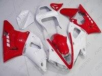Тела Наборы YZF R1 2000 2001 красный, белый всего тела комплекты для YAMAHA YZFR1 01 Обтекатели YZF1000 R1 01
