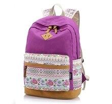 2017 Новый высококачественный холст печати женщины Стильный рюкзак старинные студент школы мешок случайные женщины путешествия сумка