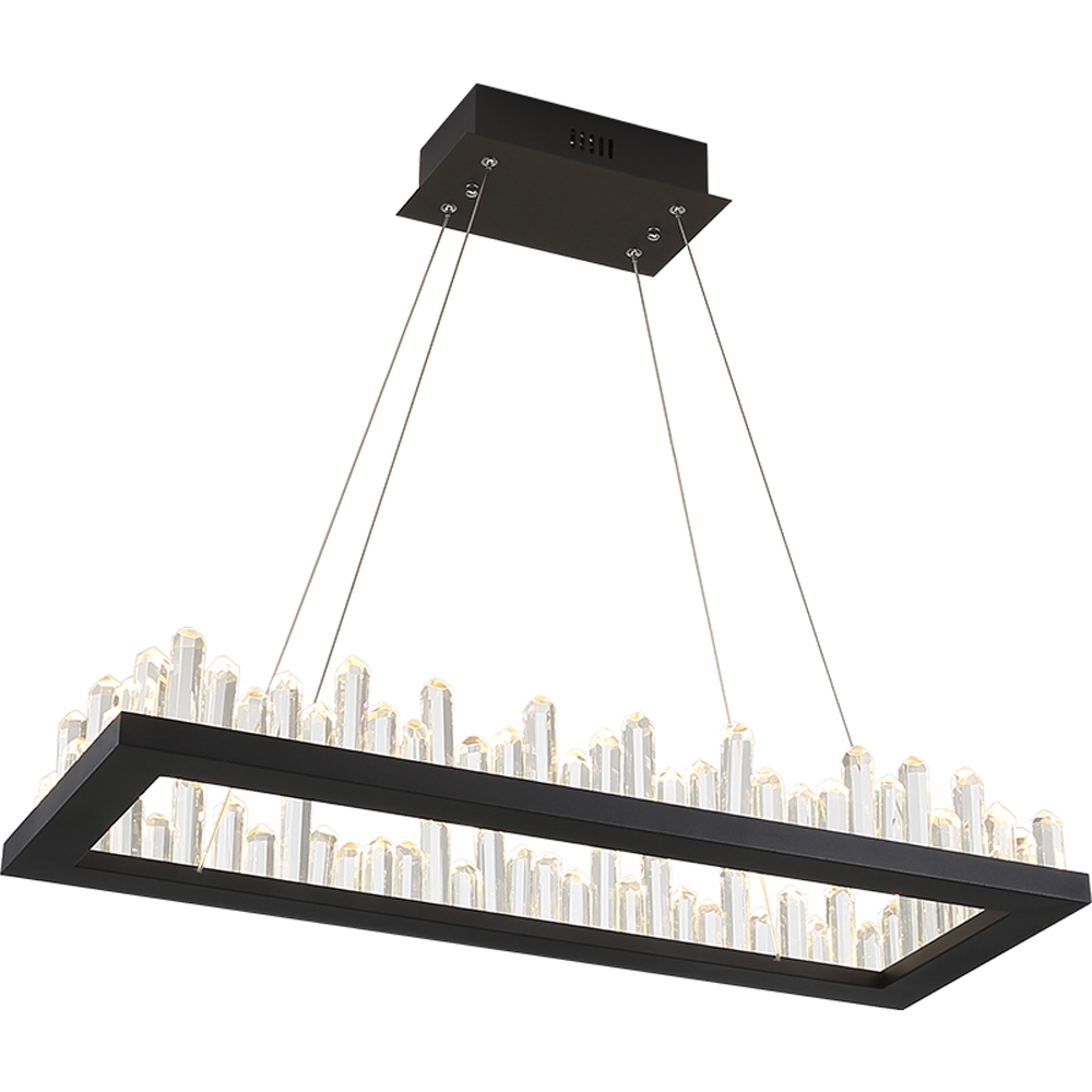 Rectangle design moderne LED lustres en cristal lampe AC110V 220 v lustre salle à manger salon kronleuchter