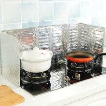 Кухонная барьер масляной Ширма из алюминиевой фольги плита для готовки стойкие маслосборные экраны анти-брызг масло перегородки домашние чистые принадлежности