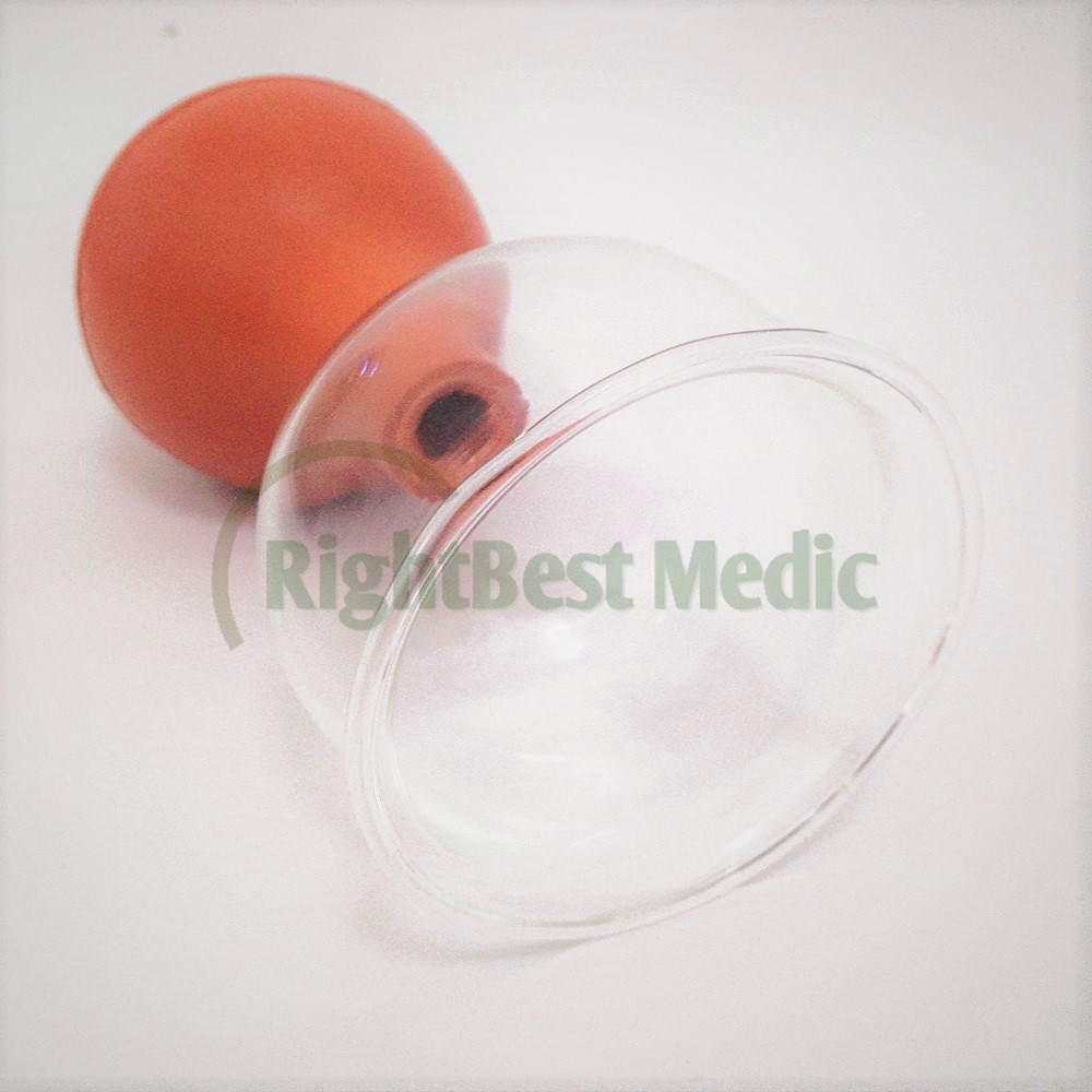 1 Cups Medical Glass and Rubber Vacuum Suction Cupping Cups Body Massage Cupping Health care Beauty tools 5 sizes in Massage Relaxation from Beauty Health