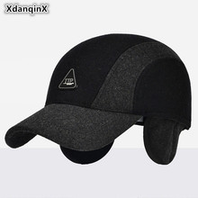 82c798a748d XdanqinX Men s Hats Winter Woolen Warm Baseball Caps New Style Middle-aged  Men Simple Duck