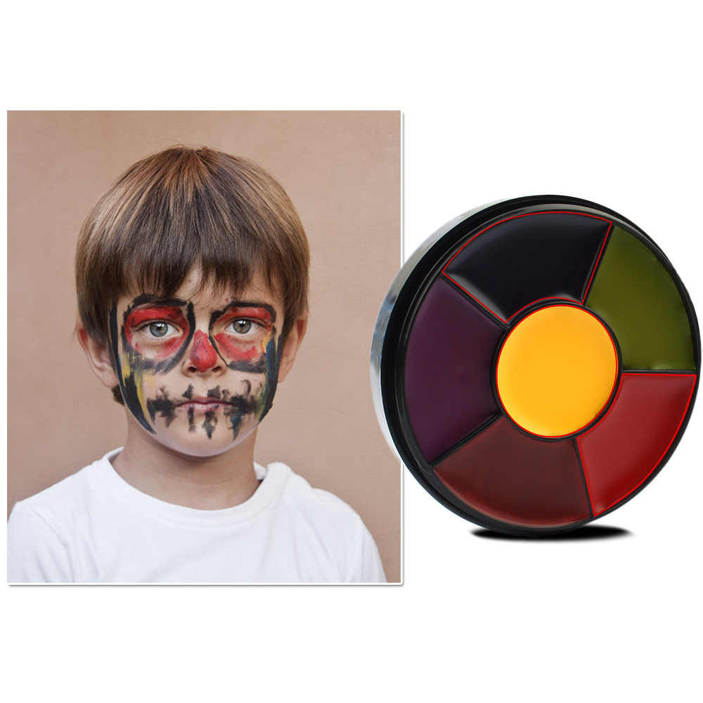 Makeup Neon Face Body Painting Palette Ideas 6 Colors Oil Paint Eyeshadow Tattoo Art For Halloween Party Cosplay Aliexpress