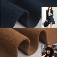 1.5m wide,thickening double sided wool cashmere cloth pure color imitation wool clothing DIY winter coat fabric R161