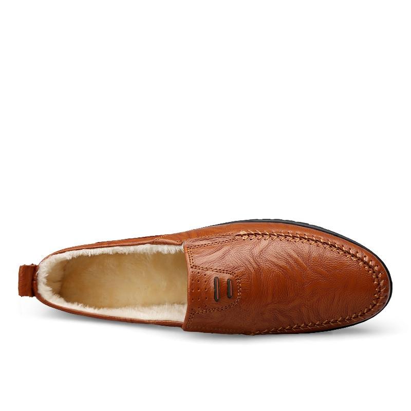 Brown Appartements Fourrure En Occasionnels Cuir Chaude Loafers Black yellow Merkmak Hommes Promenade Doux Qualité red Conduite Chaussures Avec Browm Pois Mocassins Loafers Loafers U0UqXwP