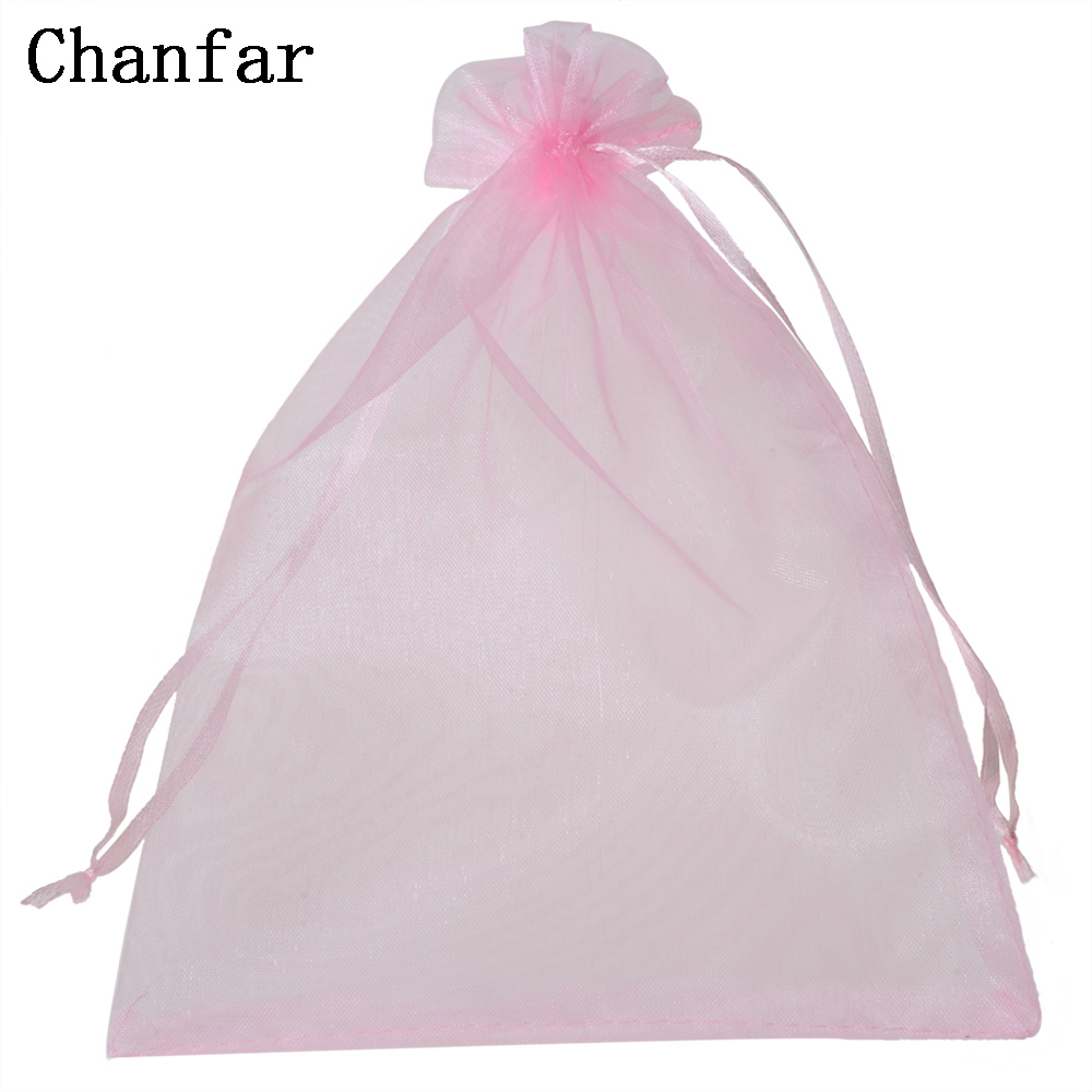 50pcs/bag 15x20cm 17x23cm 20x30cm Organza Pouches Bags Selection 21 Colors Drawable Gift Bags & Pouches