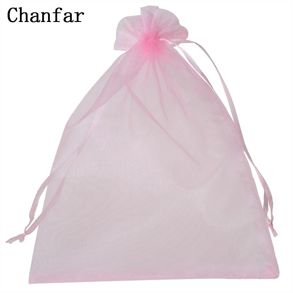 50pcs/bag 15x20cm 17x23cm 20x30cm Organza Pouches Bags Selection 21 Colors Drawable Gift Bags & Pouches