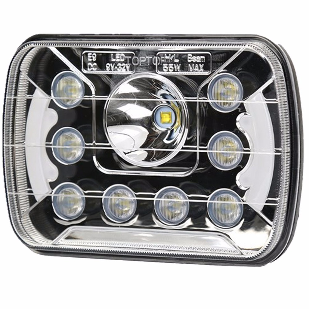 5''x7'' 6''x7'' High Low Beam Led Headlights for Jeep Wrangler YJ Cherokee XJ H6054 H5054 H6054LL 69822 6052 6053 with Angel Eye 5 x7 6 x7 high low beam led headlights for jeep wrangler yj cherokee xj h6054 h5054 h6054ll 69822 6052 6053 with angel eye