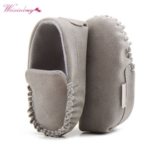 PU Suede Leather Newborn Baby Shoes Boy Girl Moccasins Soft Soled Non-slip Footwear  First Walker