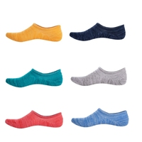 10 x Solid Boat Invisible Socks Men Bamboo Fiber Silicone Slip Design Shallow Mouth Breathable Meias Summer Sock