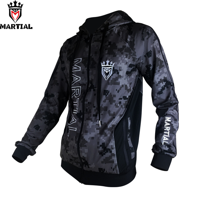 Martial :Fitness YKK zipper long sleeve  hoodies bjj/mma  trainning  sweater jogger fleece  sweatshirts men 2