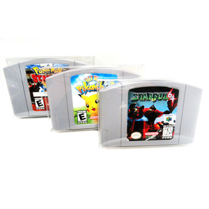 Image 3 - 20pcs Clear Transparent Cartridge Protector for Nintendo N64 Game Card Plastic PET Case Boxes