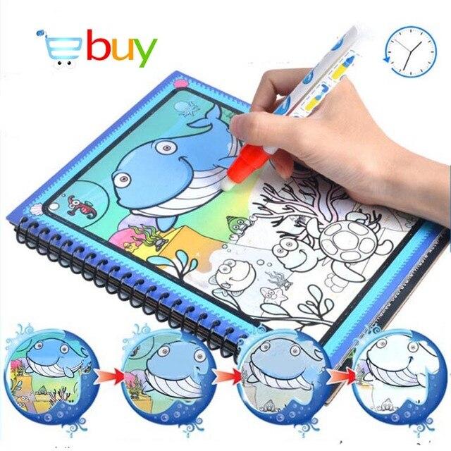 Menggambar Mainan Pesan Air Lukisan Tema Doodle Album Kartun Cat