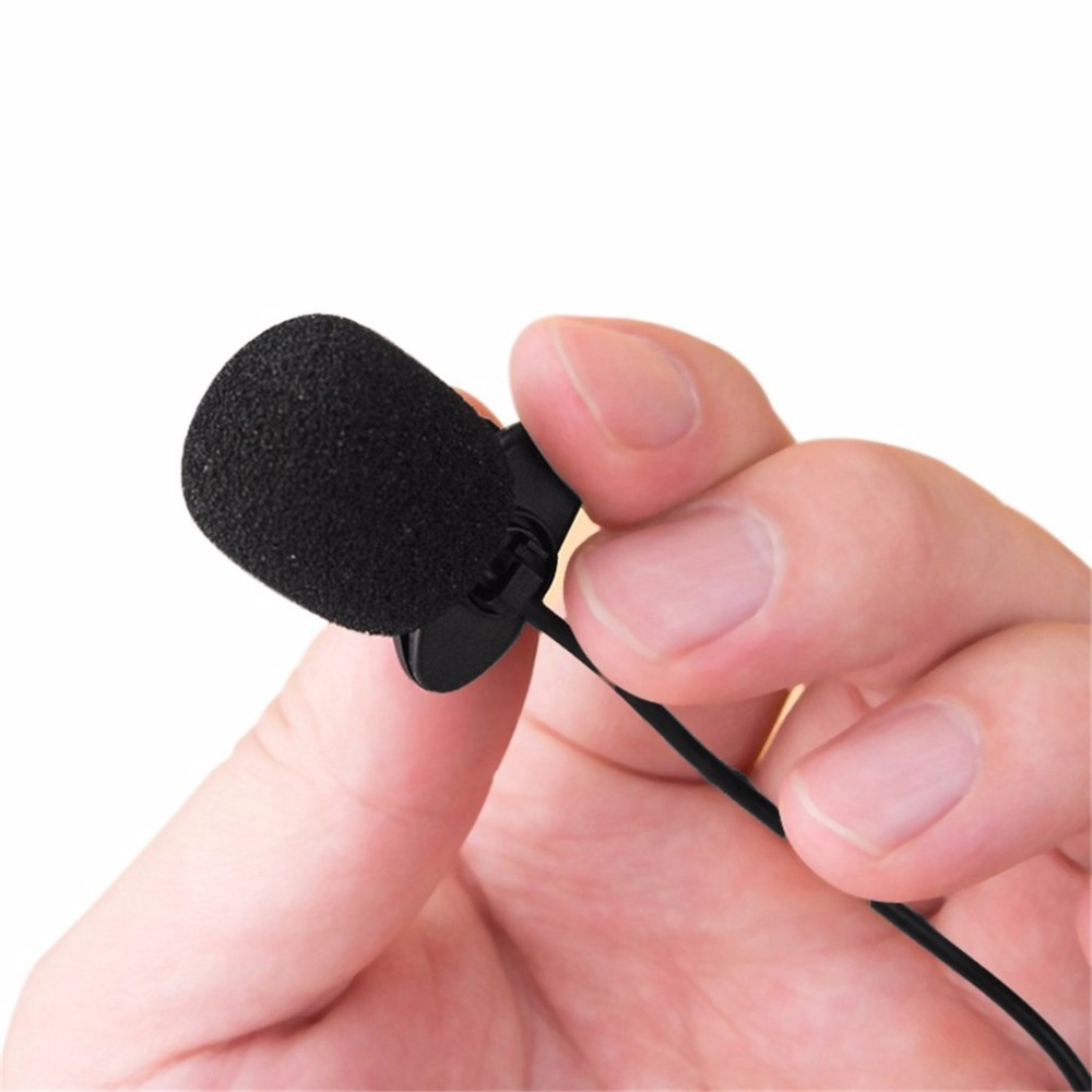 1pcs 3.5mm Mini Studio Speech Microphone Hands Free Clip On For Computer Pc Laptop Hot Search Hot New