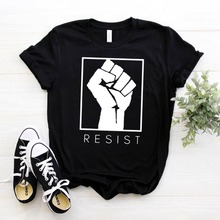 RESIST feminist Women tshirt Cotton Casual Funny t shirt For Lady Girl Top