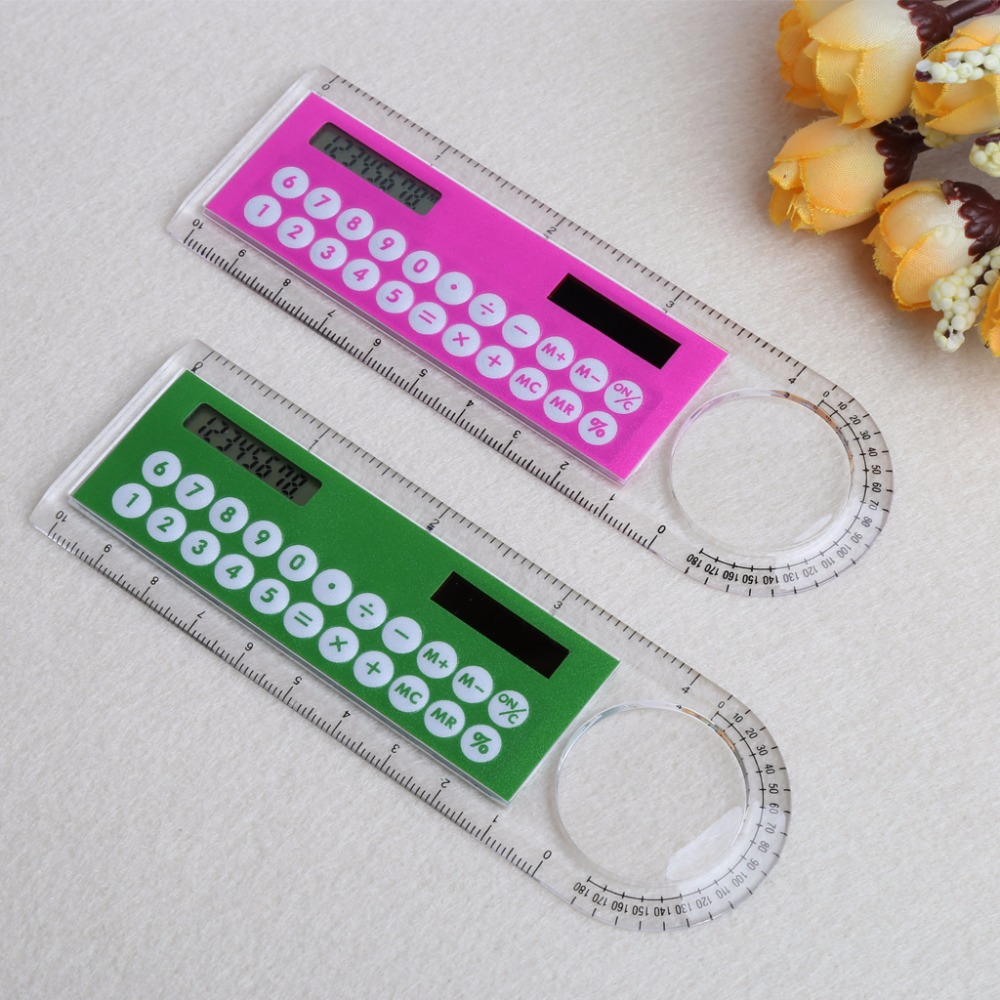 Uncategorized Kid Calculator 10cm ruler mini digital calculator 2 in 1 kid stationery school office gifts