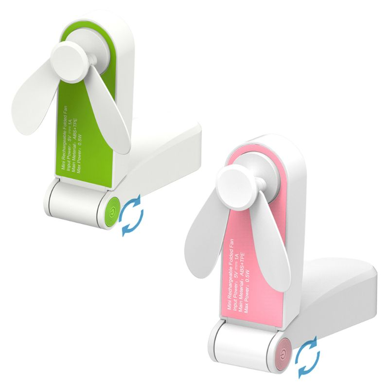 Realistic Mini Portable Handheld Pocket Folding Fan Usb Charging Fan Small Cooler For Home Office Desktop Travel Use Computer Peripherals Usb Gadgets