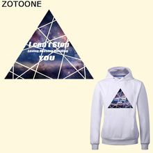 ZOTOONE Letter Patch Iron on Transfers for Clothes DIY T-shirt Applique Triangle Patches Accessory Heat Transfer Vinyl Stickers цена