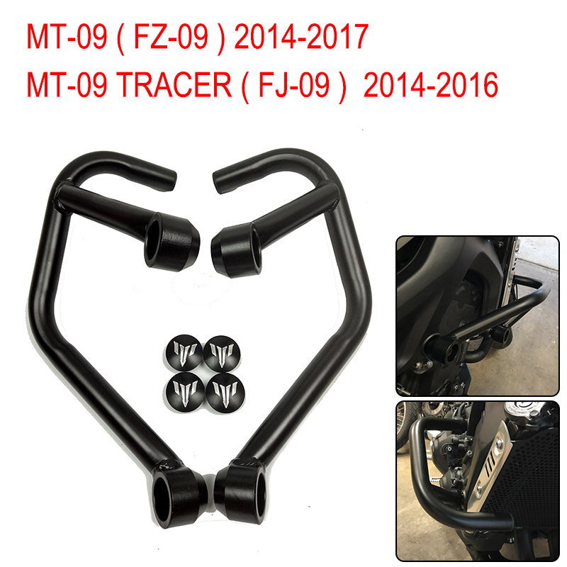 MT-09 FZ 09 MT09 2016 2017 FJ-09 Motor Accessories Front Engine Guard Crash Bars Motorbike Parts for YAMAHA MT09 TRACER 14-16 engine bumper guard crash bars protector steel for yamaha mt09 mt 09 fz07 fz 09 2014 2016 2014 2015 2016 motorcycle