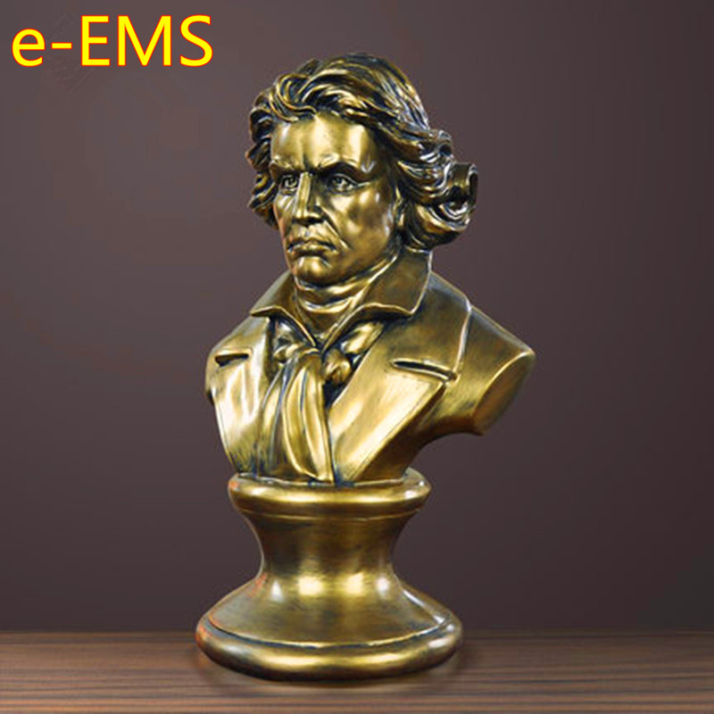 Ludwig van Beethoven Bust Figure Statue Western Classical Resin Craftwork Continental Home Decorations Art Material L2574 retro music ludwig van beethoven bust franz joseph haydn statue colophony crafts sketch teaching collectible decorations l2352
