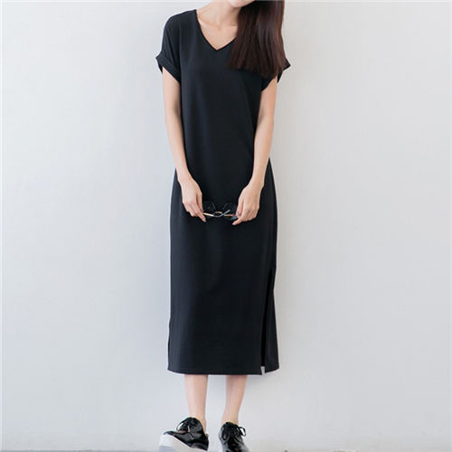 Summer dress black shirt
