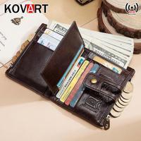 2019 new RFID Genuine Leather Wallet Men PORTFOLIO Gift Male Coin Purse Pocket Money Bag Cudan Portomonee Perse Fashion walet